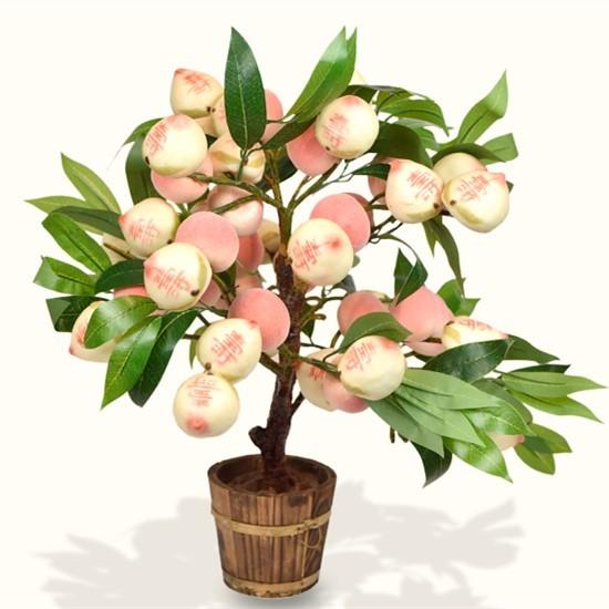 建议当天食用,低温2-8度冷藏保质期3天,桃树盆景可长期摆放.
